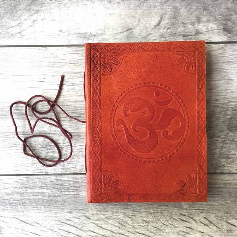 om leather journal fathers day gift