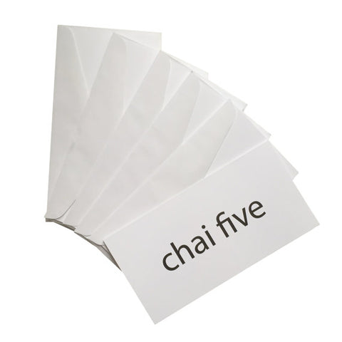 chai five jewish money holder cards
