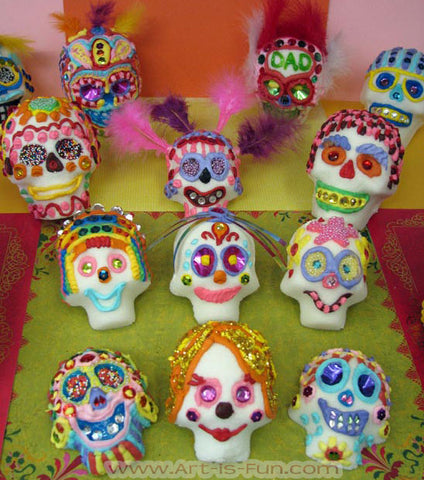 decorate mexican sugar skulls