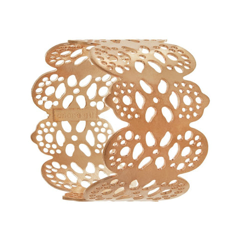 gold napkin rings eyelet design