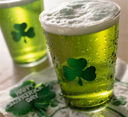 put clover in your beer for good luck
