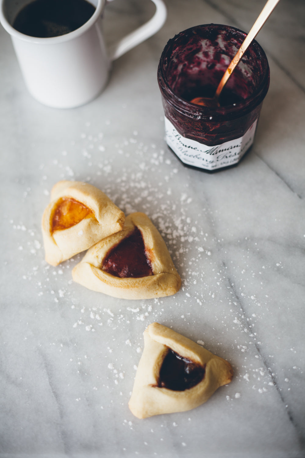 halva and jam hamantaschen from molly yeh