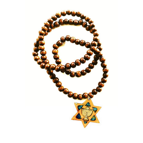 holy star of david men's necklace jewish gift