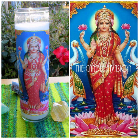 lakshmi prayer candle