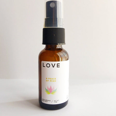 love room body or yoga mat spray