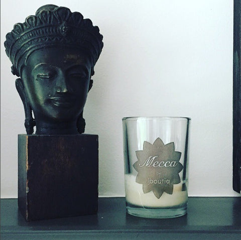 mecca soy candle with essential oils