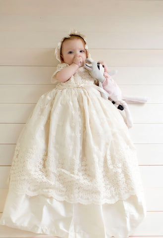 ivory baptismal gown