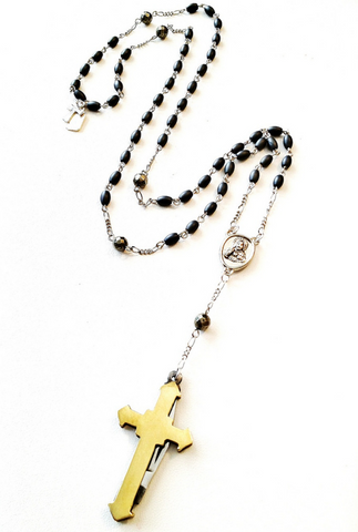 cross rosary necklace