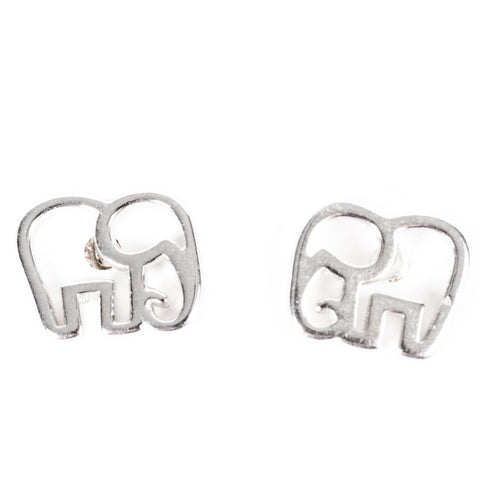 little silver elephant earrings