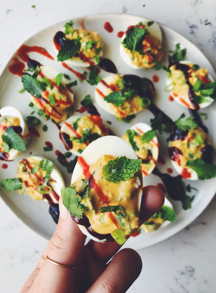pho inspired deviled egg recipe