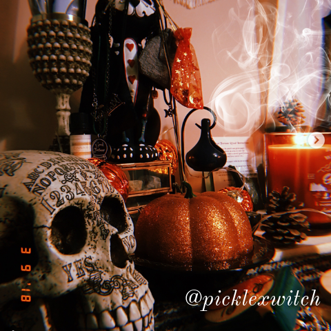 mabon altar pickle x witch