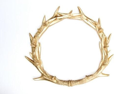 christmas antler wreath