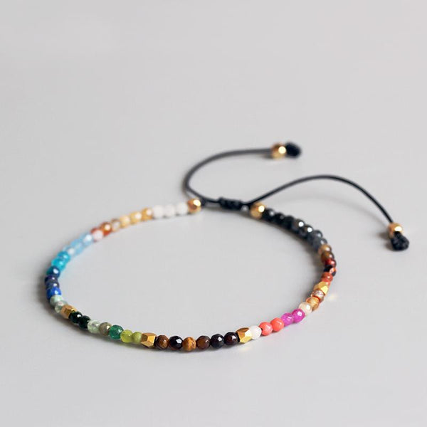 Bracelet - 12 Constellation Lucky Stone Bracelet-3mm Beads