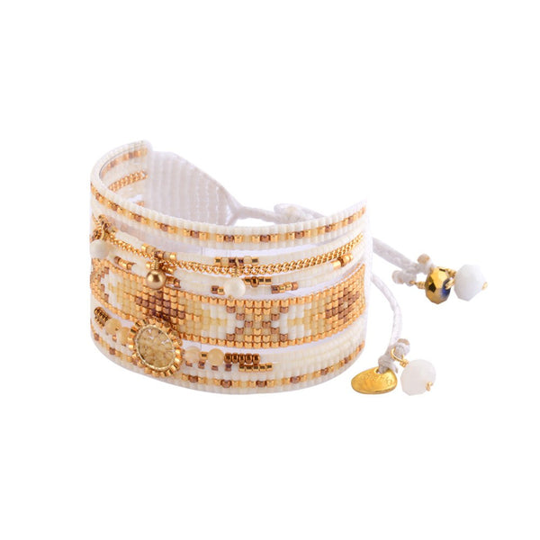 BRACELET - Beaded Bracelet 'Medly' By Mishky In Gold