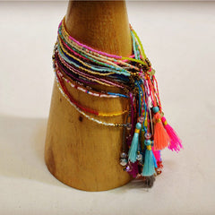Bracelet - Friendship Bracelets With Bohemian Tassels