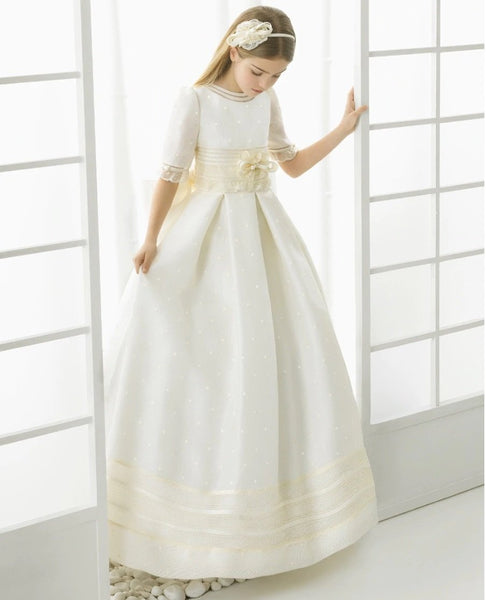 Princess Lace Flower Girl or First Communion Dress