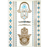 Loving Hamsa Temporary Tattoos