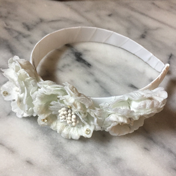 Headband - 'Hazel' Girl's Flower Headband