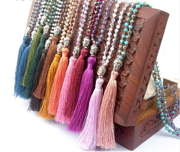 Jewelry - Buddha Boho Friendship Tassel Necklace
