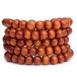Natural Wood Buddhist Bead Bracelets