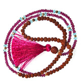 Mala Beads - Rhodolite Garnet Mala Beads From Mirah Naturals