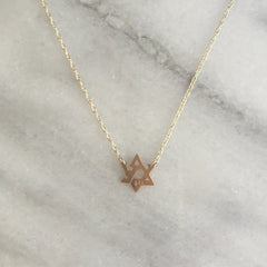 NECKLACE - 'Love' Star Of David Necklace From Jane Basch