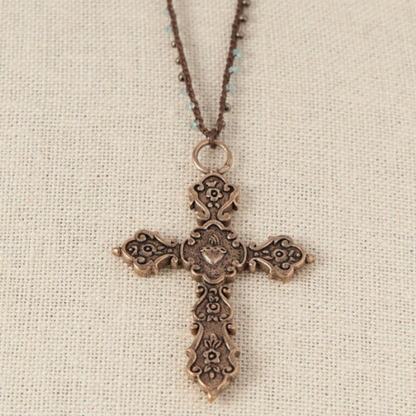 NECKLACE - Maria Cross Necklace From Tara Gasparian