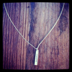 NECKLACE - 'Shalom' Bar Necklace From Emily Rosenfeld