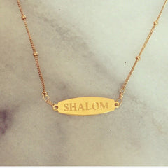 NECKLACE - 'Shalom' Necklace From Delicate Raymond
