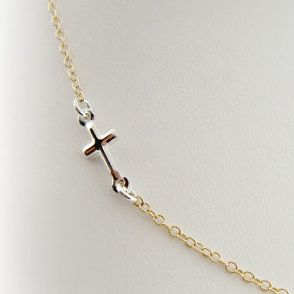 NECKLACE - Side Cross Necklace From Cai