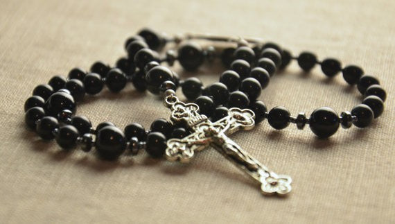 Rosary - Black Obsidian Rosary From Willow And Bee