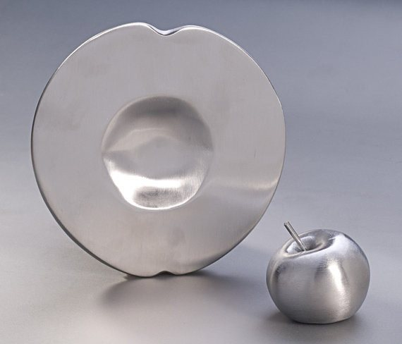 Silver Apple Rosh Hashanah Traditions Plate