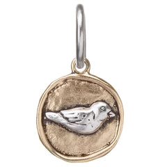 Brass and Silver Bird Charm by Waxing Poetic