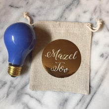 Jewish Wedding Smash Glass Bag & Blue Light Bulb