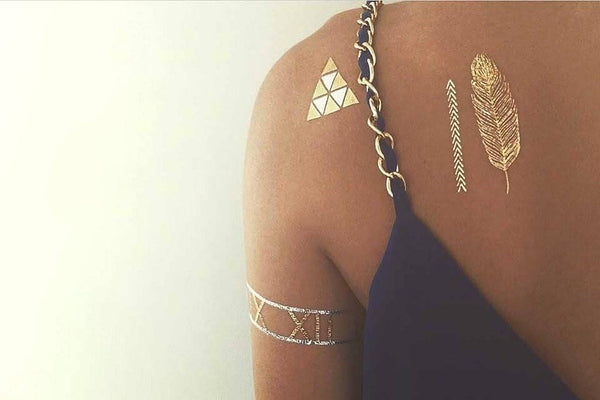 Temporary Tattoos - TribeTats Belize Collection Metallic Temporary Tattoo Designs