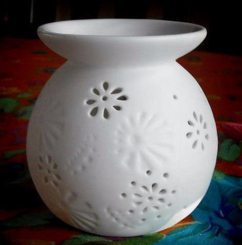 Round Daisy Tea Light Wax Warmer