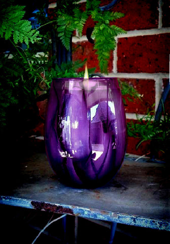 Watercolour Eco Soy Candle - Plum Purple NEW