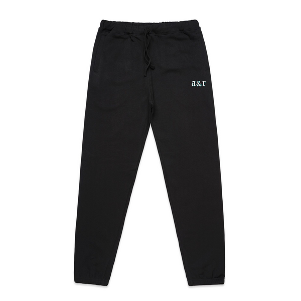 A&R Embroidered Essential Black Sweatpants