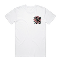 Tiger Rose White T-Shirt