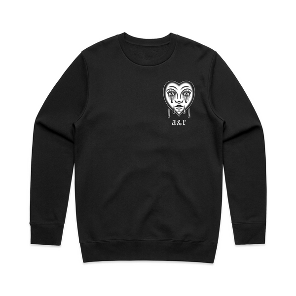 Lonely Heart Black Sweatshirt