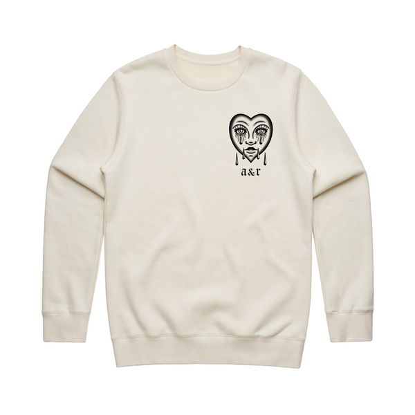 Lonely Heart Off White Sweatshirt