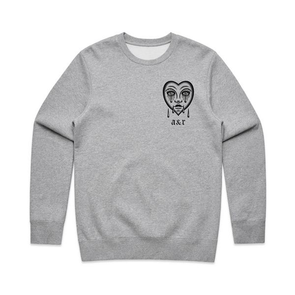 Lonely Heart Heather Grey Sweatshirt