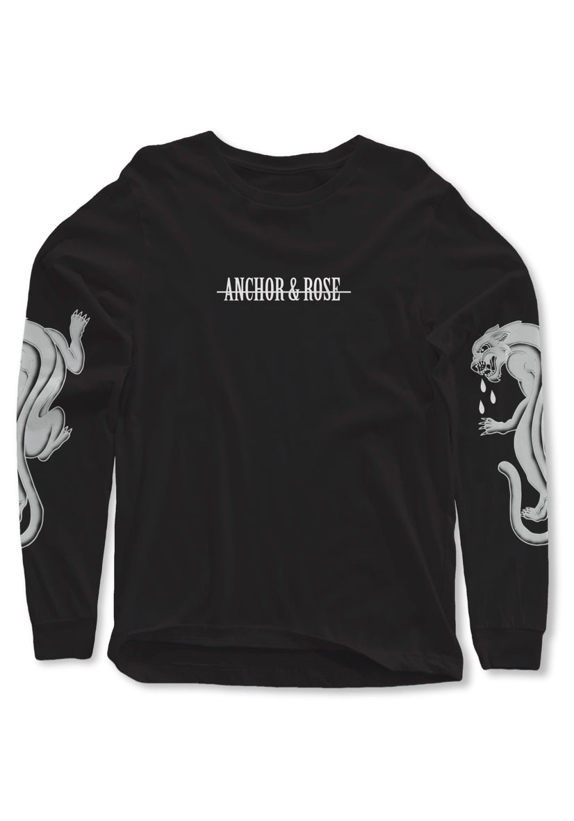 Panther Negative Black Long Sleeve T-Shirt