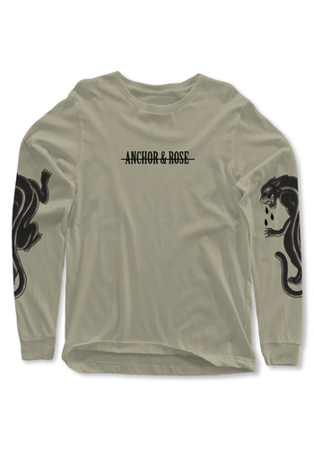Panther Khaki Long Sleeve T-Shirt