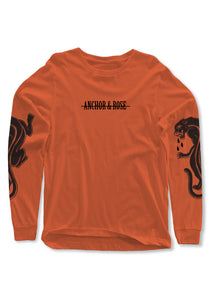 Panther Orange Long Sleeve T-Shirt