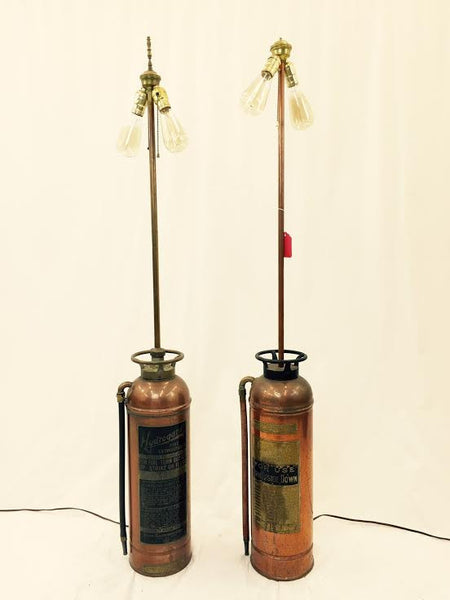 Antique Fire Extinguisher Lamps