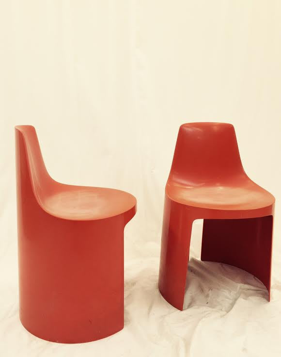Modern Panton Style Side Chairs