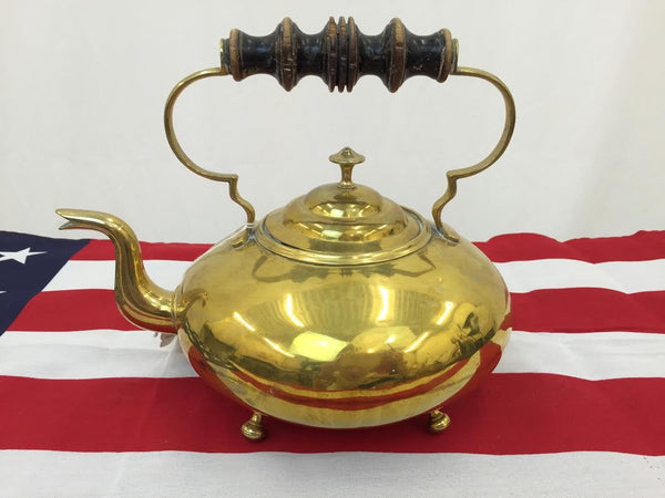 Antique Brass Tea Kettle