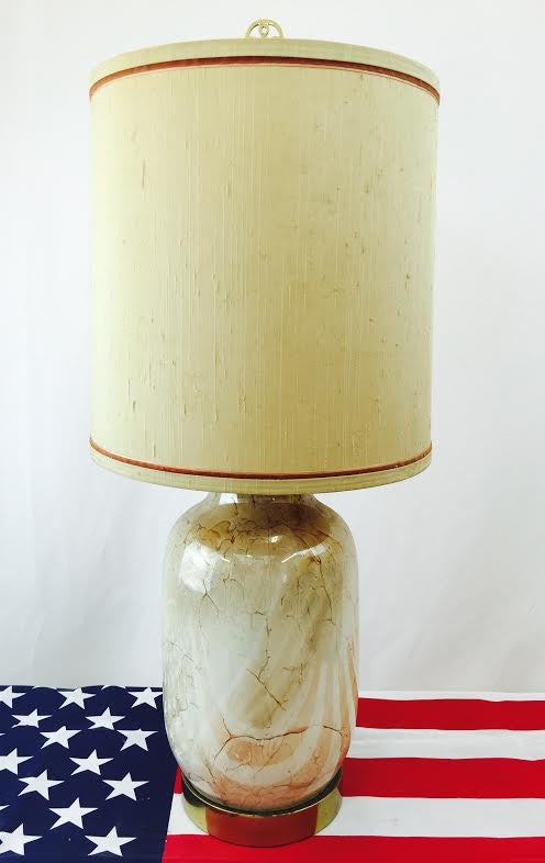 Vintage Frederick Cooper Lamp on Brass Base