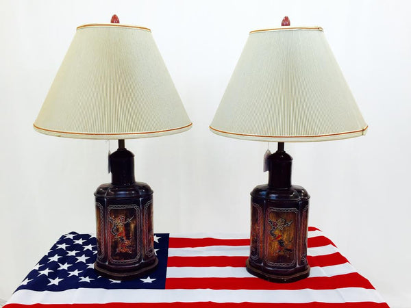 Pair Vintage Asian Lamps